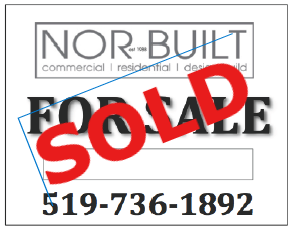 photo of sold sign by NORBUILT construction