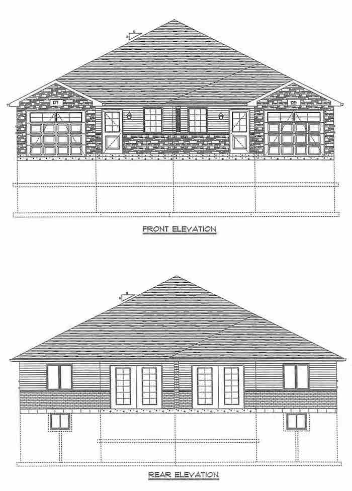 Front & Rear Elevation