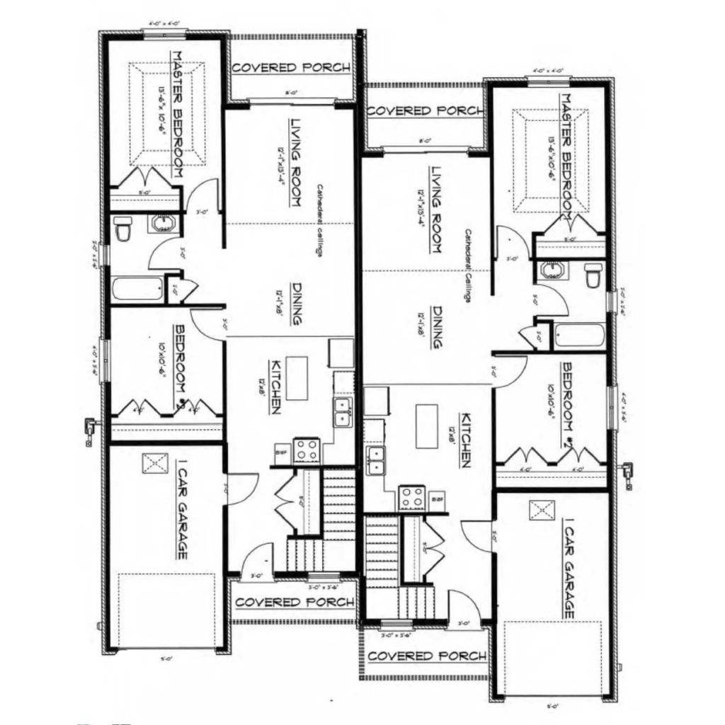 1020 sf ranch main floor plan full nor built construction for Floor design sf
