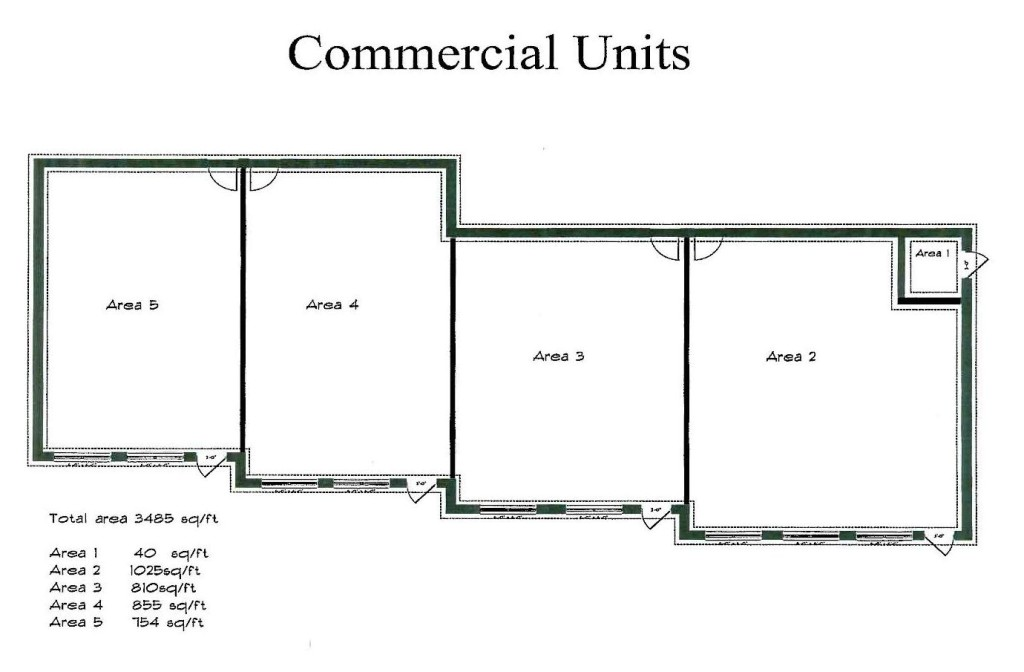 photo of floor plan for 111 sandwich commercial by norbuilt