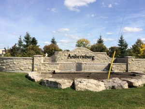 amherstburg welcome sign