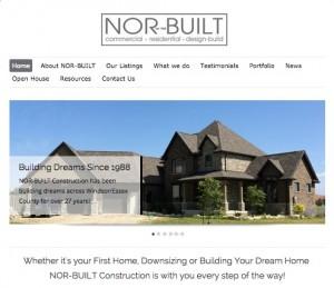 norbuilt website homepage thumbnail